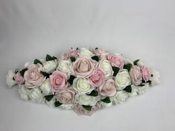 Artificial Wedding Flowers Top Table Decoration Roses / Greenery