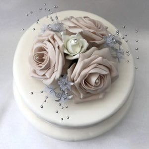 Artificial Wedding Flowers Single Wedding Cake Topper