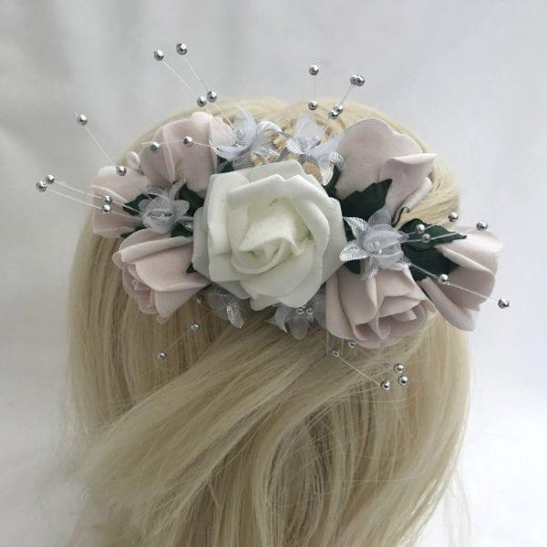Artificial Wedding Flowers Bridal Luxury Hair Comb