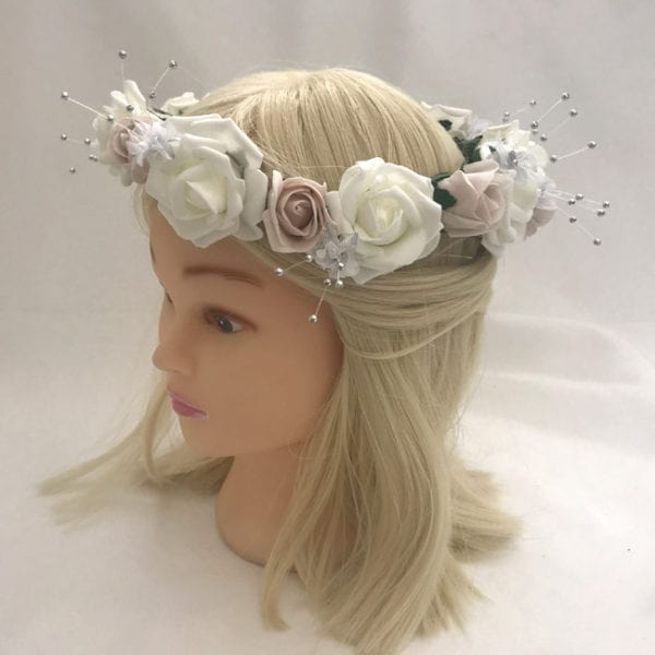 Artificial Wedding Flowers Hair Garland