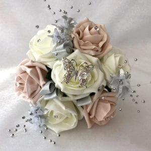 Artificial Wedding Flowers Small Child Posy / Flowergirl Posy