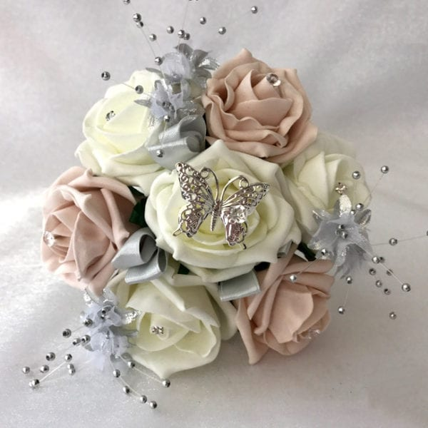 Artificial Wedding Flowers Small Child Posy / Flowergirl Posy