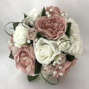Artificial wedding flowers bridesmaid medium posy - Peonies