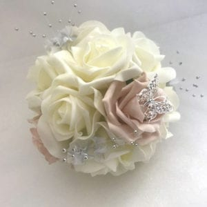 Artificial wedding flowers bridesmaid small posy - Roses