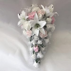 Artificial wedding flowers brides teardrop - Star Lillies and Roses