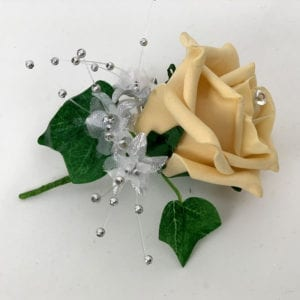 Artificial Wedding Flower Single Buttonholes Gold