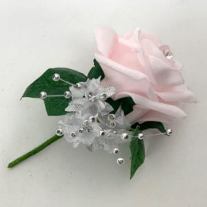 Artificial Wedding Flower Single Buttonholes Baby Pink