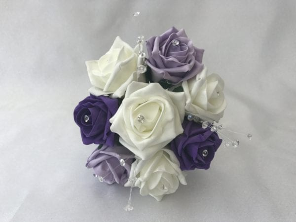 small bridesmaid posy crystal