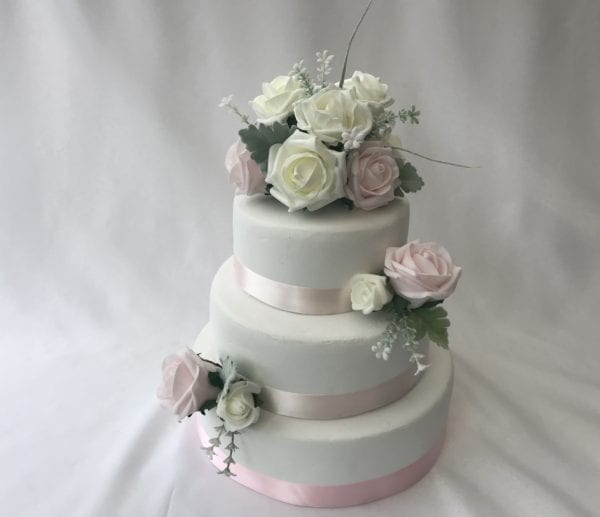 wedding 3 piece rose cake topper