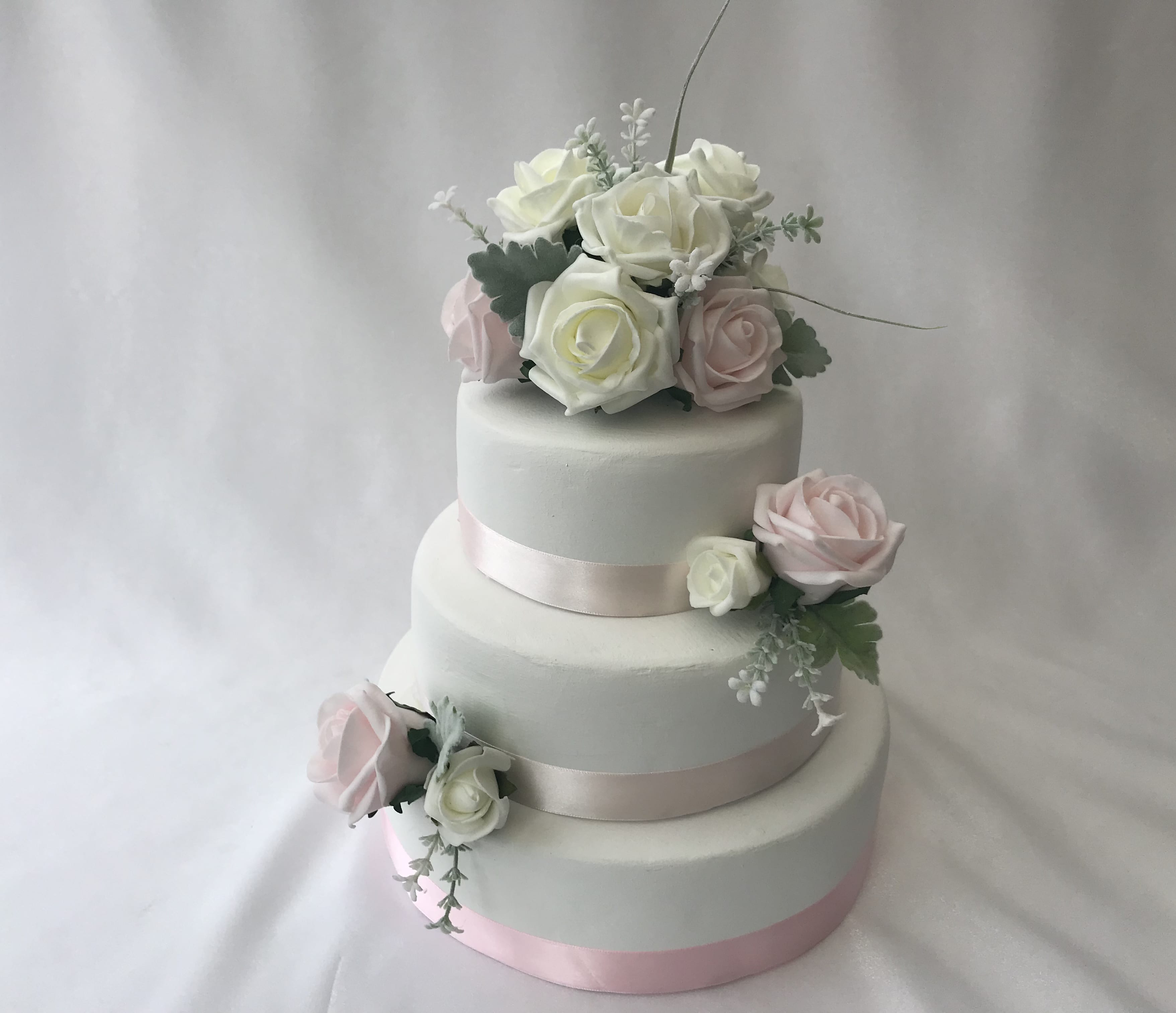 Silk Flower Wedding Cake Toppers: Artificial Wedding Cake Topper Rose