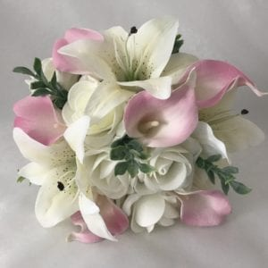 Lillies bridesmaid bouquet