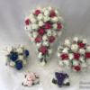 glitter hoops wedding flowers