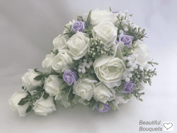 brides peony teardrop bouquet