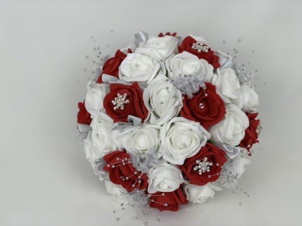 artificial wedding brides posy snowflake