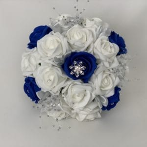bridesmaid posy royal blue