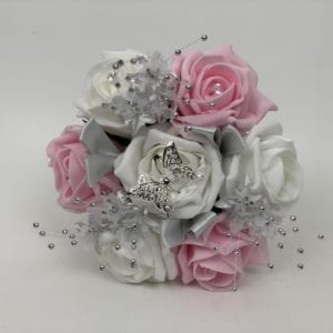 small bridesmaid posy pink