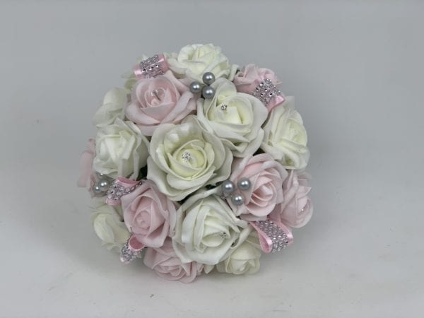 bridesmaid posy diamante ribbon