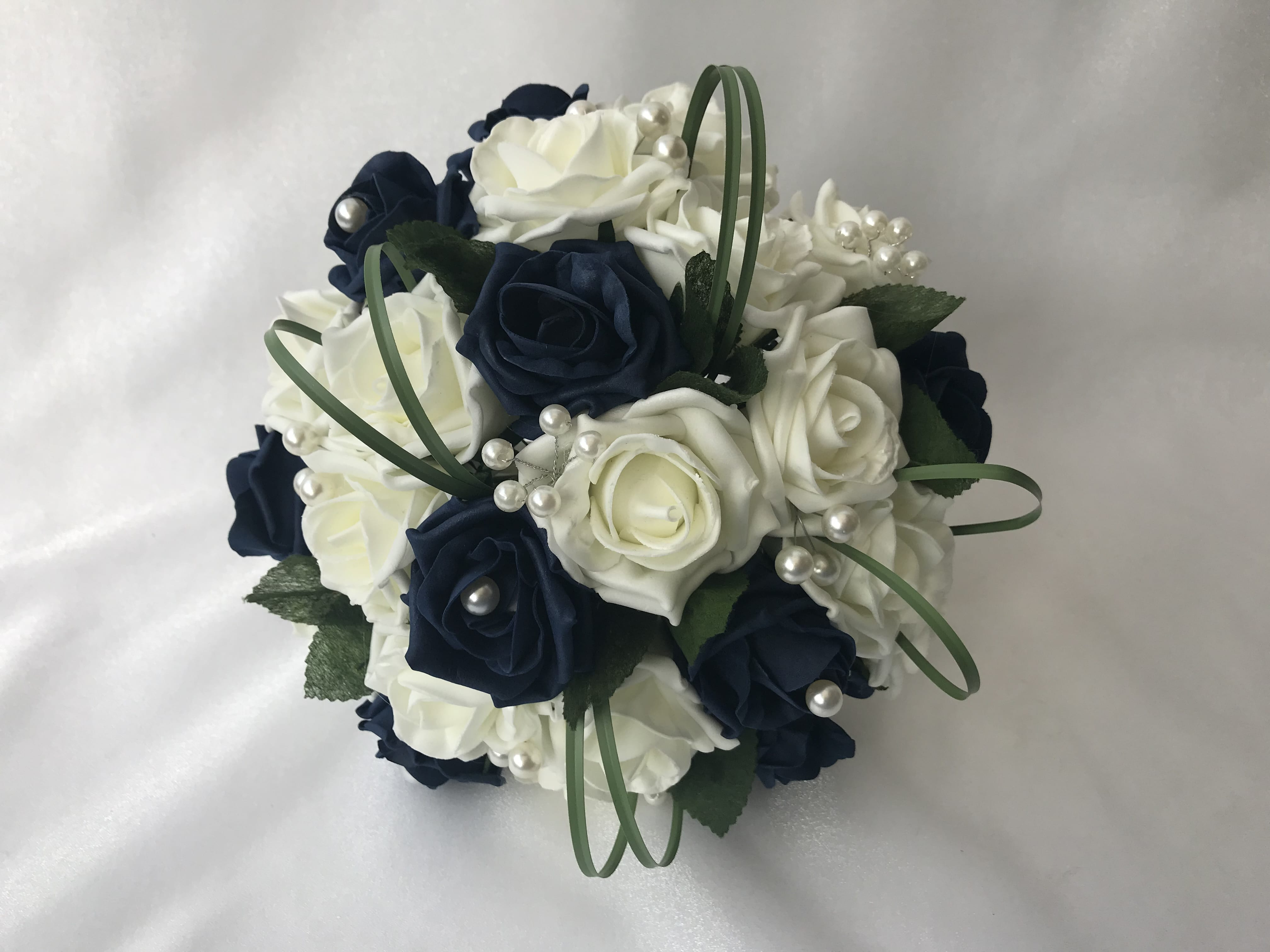 Artificial Wedding Bouquets.Artificial Wedding Flowers Brides Posy Bouquet Posy Grass