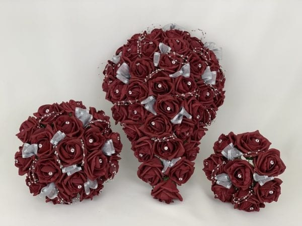 Artificial wedding bouquet sets