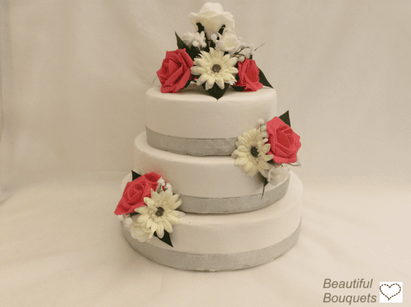 gerbera cake topper 3 pieces