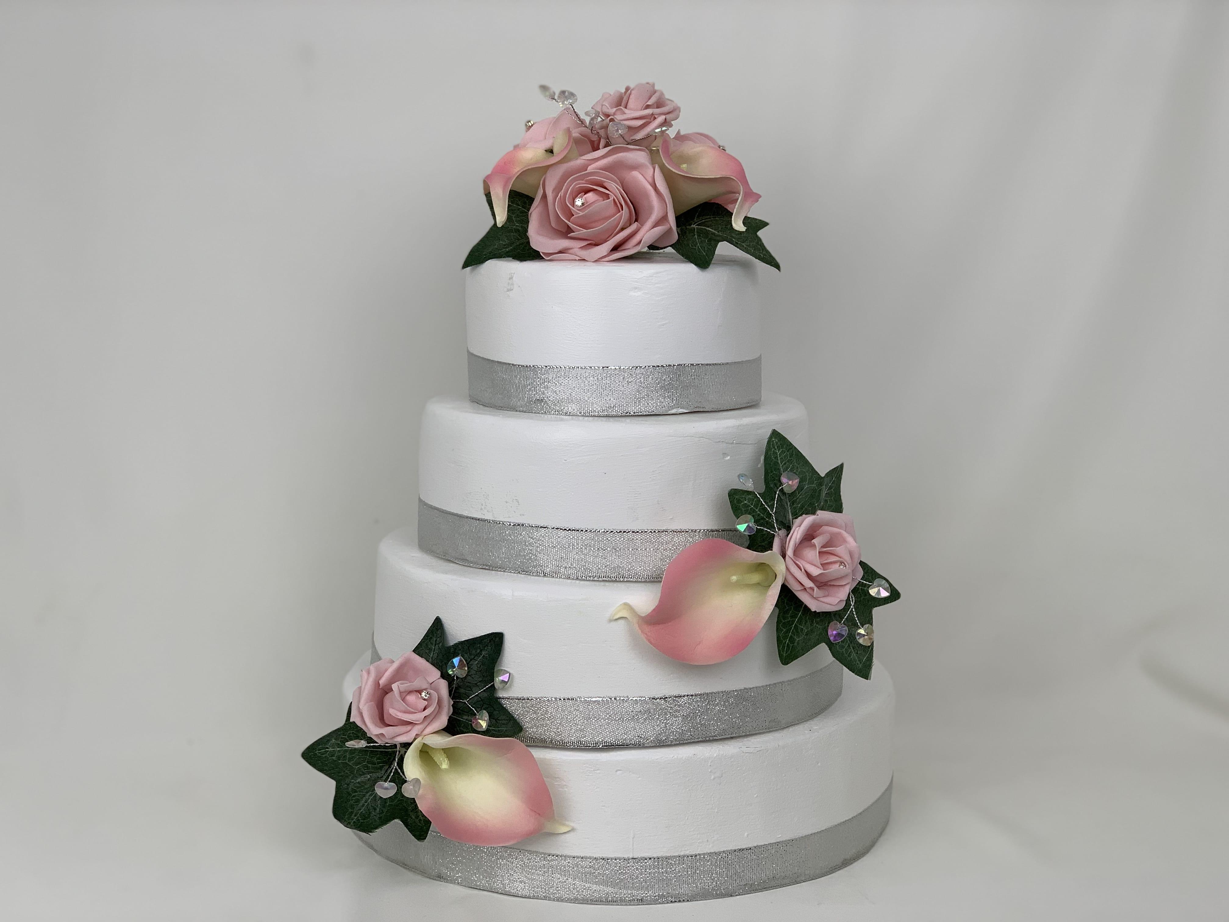 Artificial Wedding Cake Topper Calla Lillies 3 Pieces Beautiful