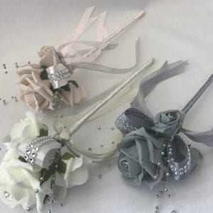 Diamante flower girl wand