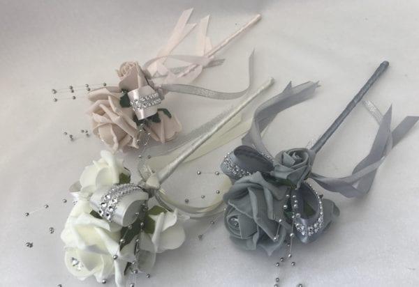 Diamante flower girl wand