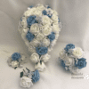 Artificial Wedding Bouquets - Light Blue