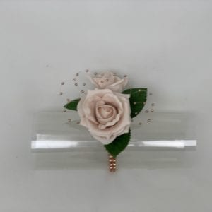 rose gold wrist corsage