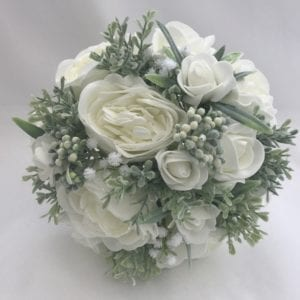 Brides posy with peonies