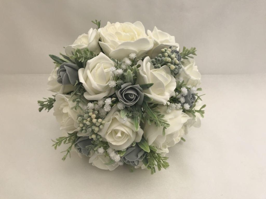 Artificial Meduim Bridesmaid Bouquet Posy Peonies Berries