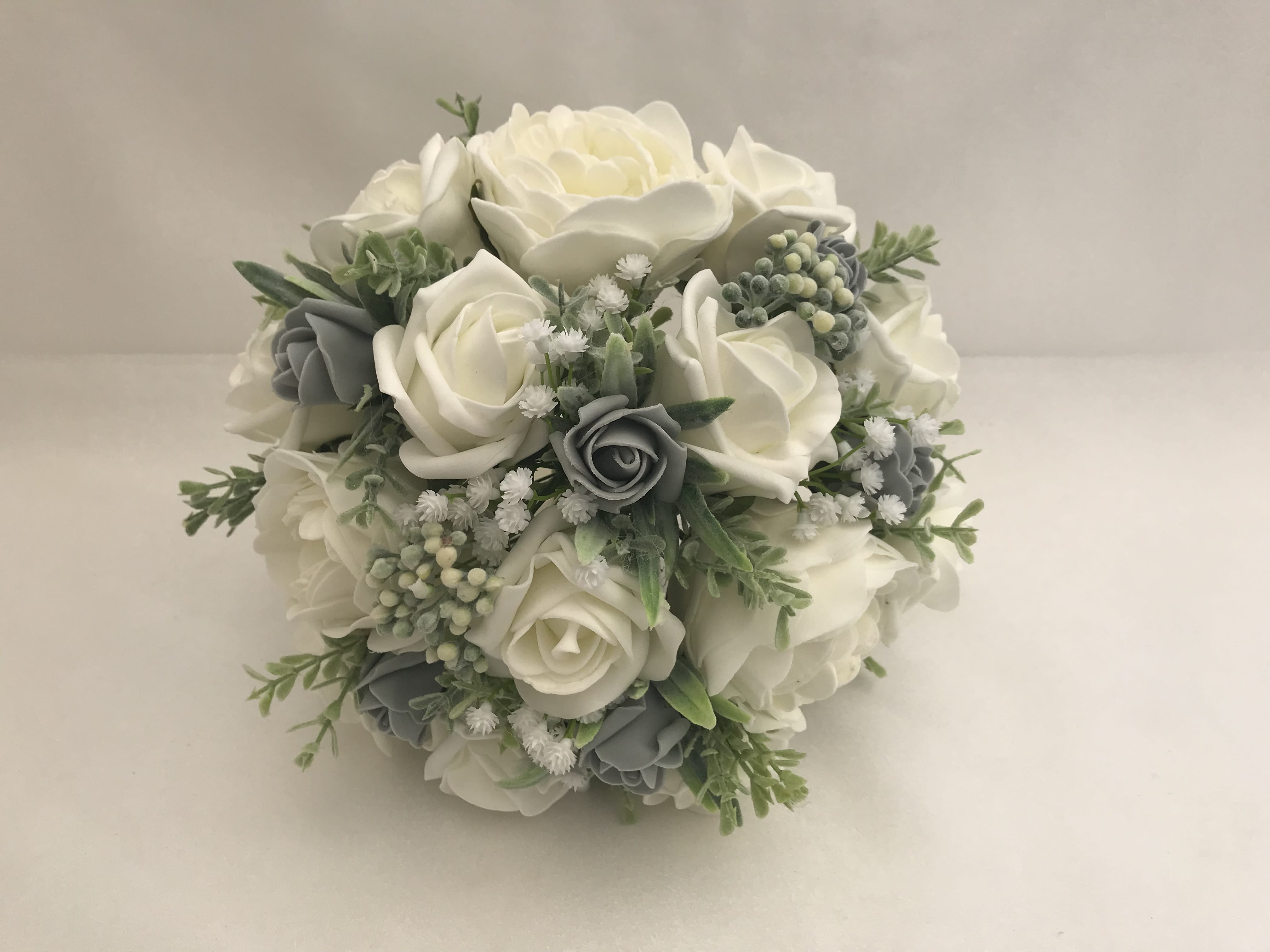 Artificial Brides Posy Bouquet Posy Peonies Berries