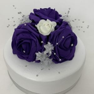 Purple cake topper