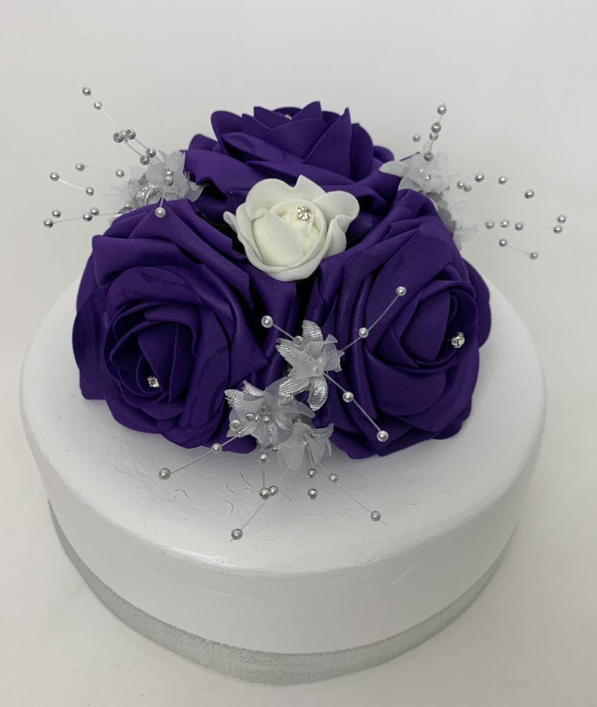Silk Flower Wedding Cake Toppers: Artificial Wedding Cake Topper Roses