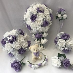 Artificial Wedding Bouquets - Lilac