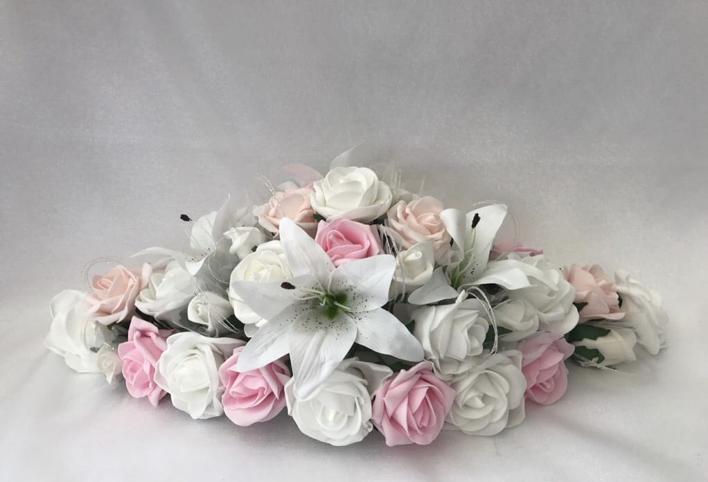 Artificial Wedding Flowers Top Table Decoration Star Lillies