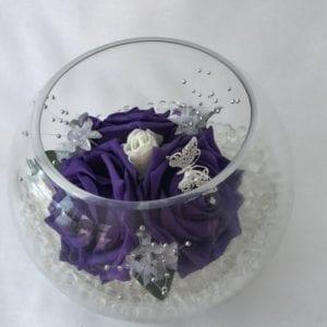 fish bowl flowers