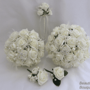 artificial wedding flowers pearls