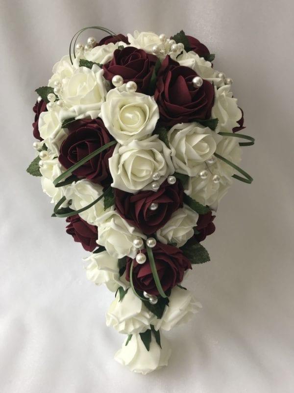 artificial wedding bouquet brides teardrop grass