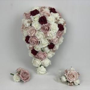 wedding bouquets diamanté ribbon