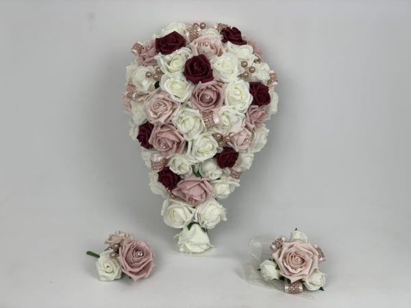 wedding bouquets diamanté ribbon