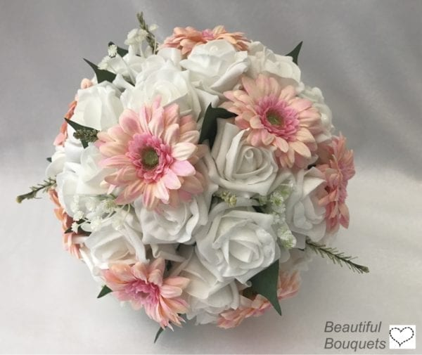 brides posy with gerberas