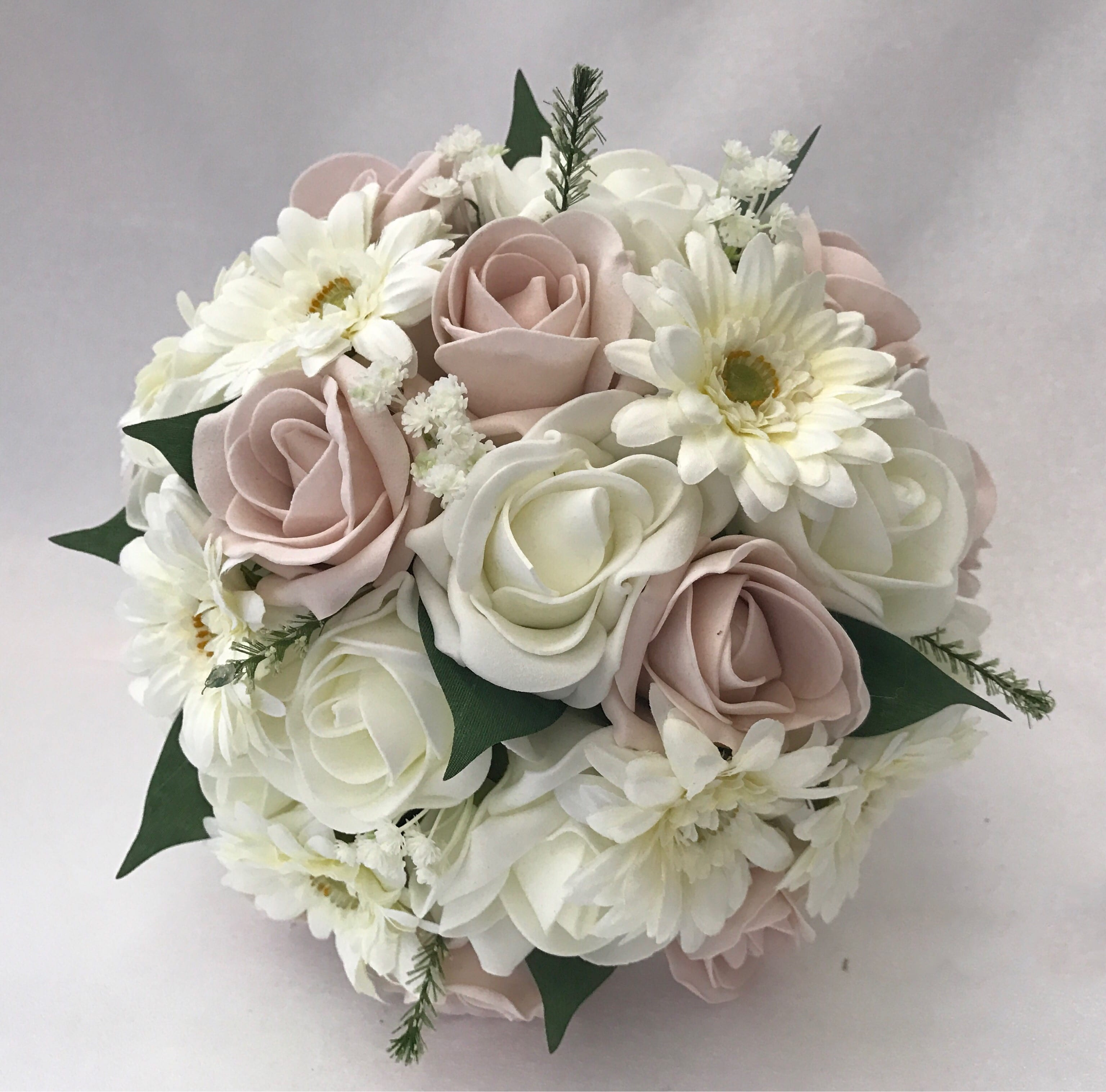 Gerbera Flower Wedding Bouquets: Medium Artificial Wedding Flowers Bridesmaid Bouquet Posy