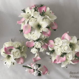 star lily and calla lily bouquet sets