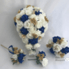 artificial wedding bouquets royal blue