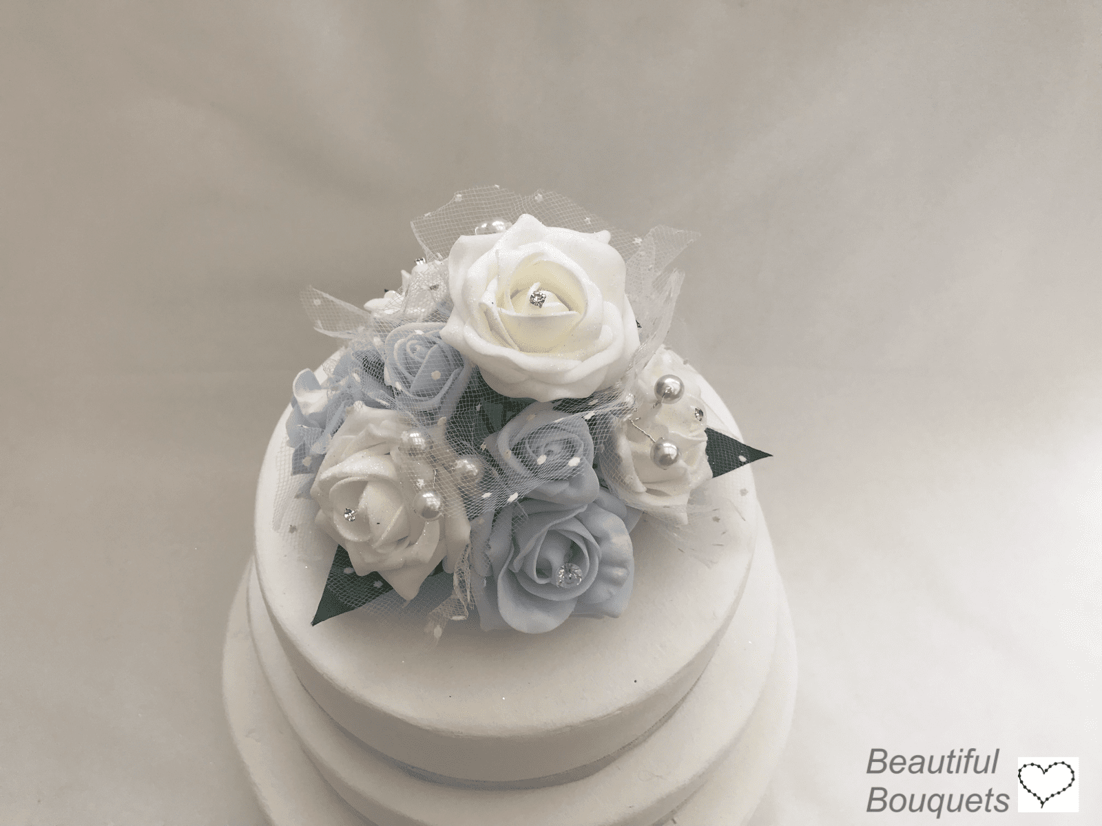 Artificial Wedding Cake Topper Crystal Pearls