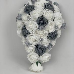 artificial wedding flowers brides bouquet