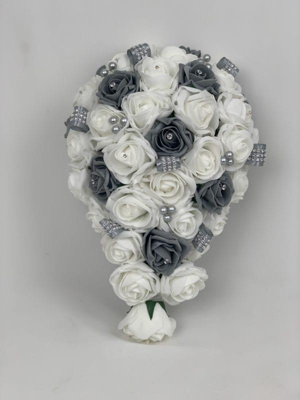 artificial wedding flowers brides bouquet