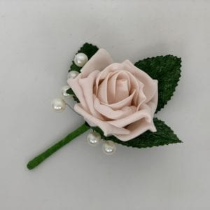 single buttonhole with pearls