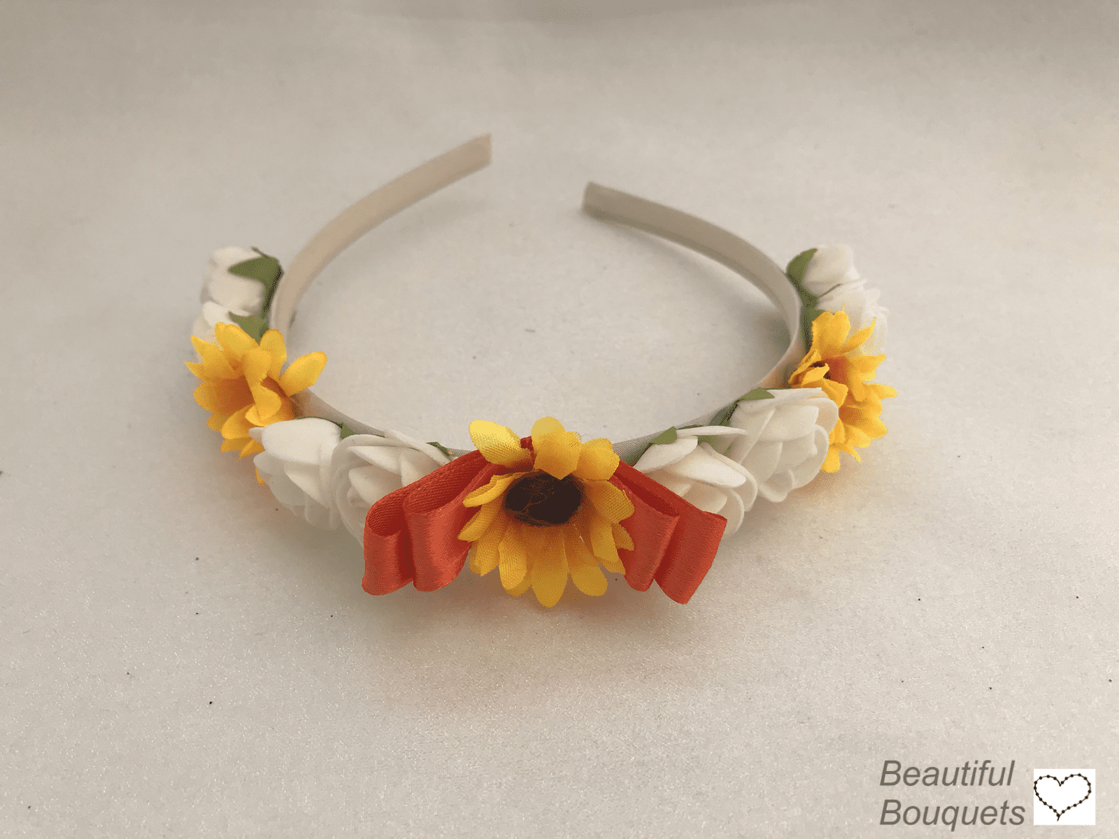 Shop for Artificial Wedding Flowers. sunflower headband 5df229865b8
